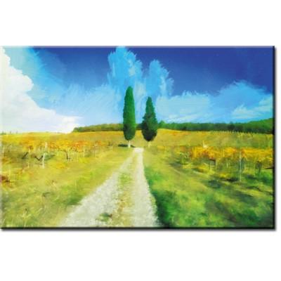 obraz z krajobrazem