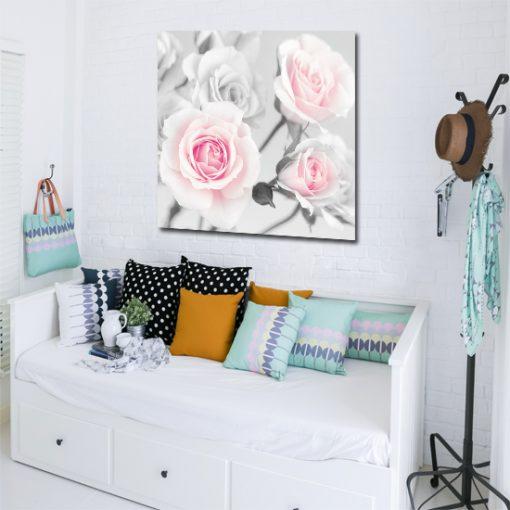 róże na obrazie
