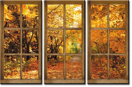 tryptyk z oknami