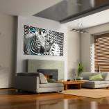 dyptyk z zebrami