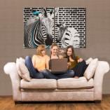 dekoracja z zebrami