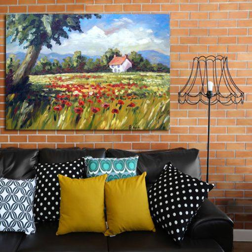 rustykalne dekoracje na ściany