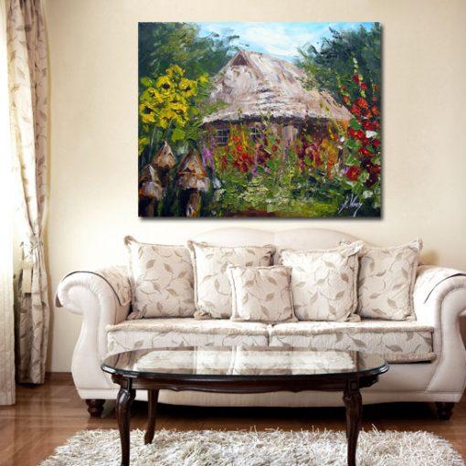 obrazy z chatą