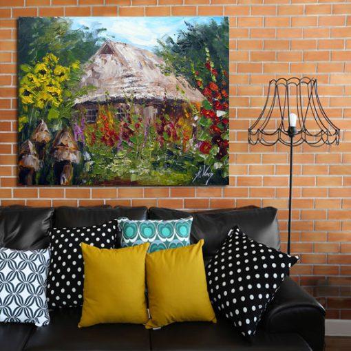 dekoracje z chatą
