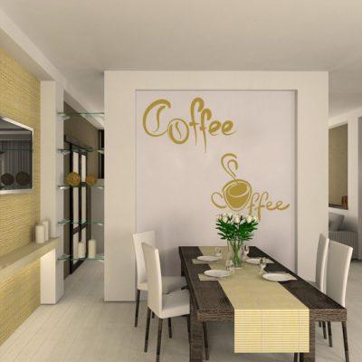 nalepka z kawą