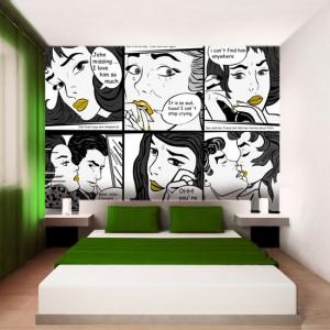 fototapeta-komiks z akcentem - jaki komiks na ściany