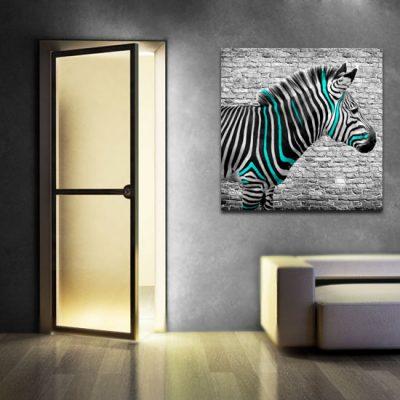 zebra na obrazie