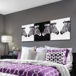 tryptyk z zebrami