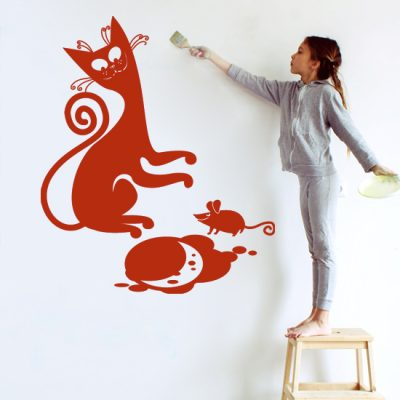 tatuaż na ścianę