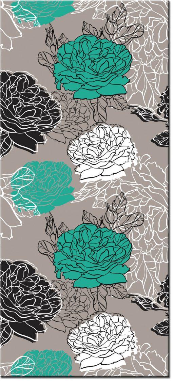 okleina z kwiatami