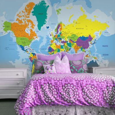 fototapety mapy świata