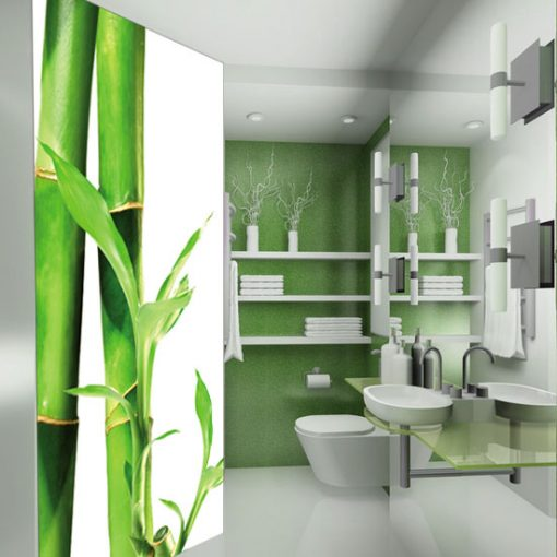 laminat z bambusami