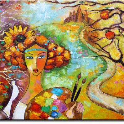 obrazy z kobietami