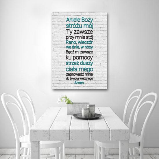 Plakat Z Pacierzem Do Anioła Stróża