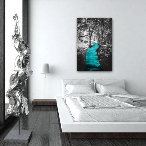 obrazy z lasem