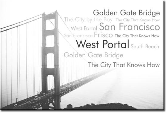 fototapety z mostem i napisami
