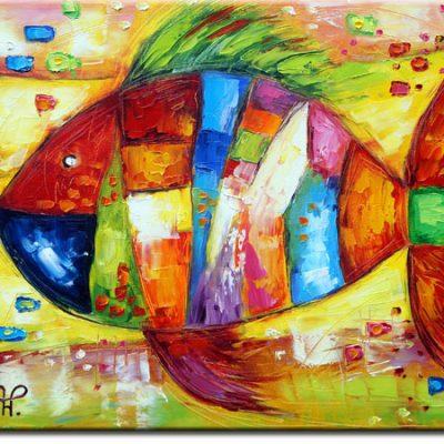 obraz kolorowy karp