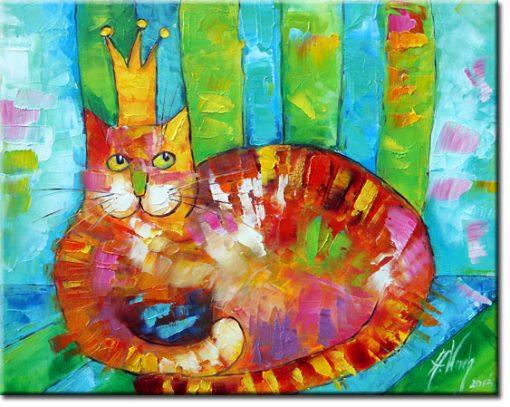 obraz jak malowany uroczy kociak