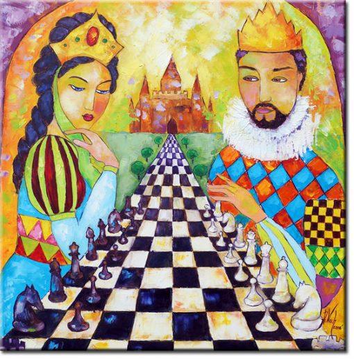 obraz jak malowany król i królowa