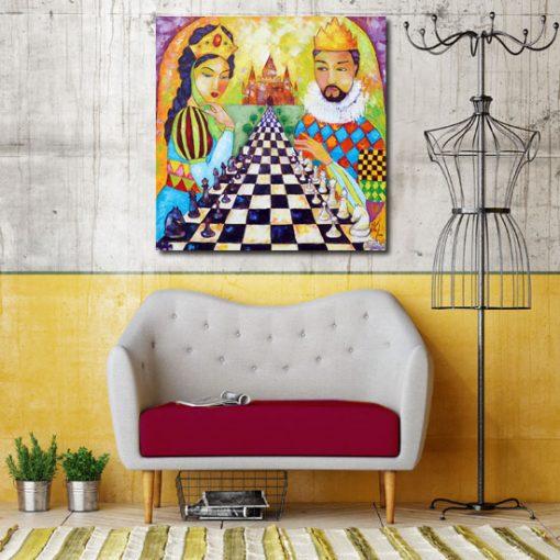 obraz szachownica i książęca para