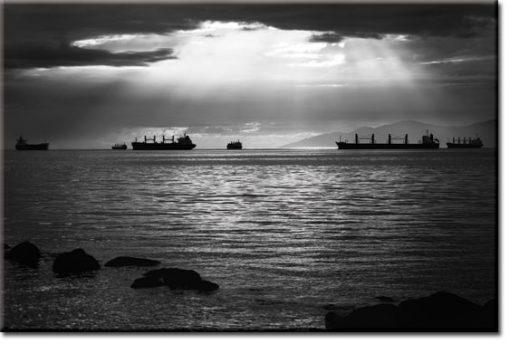 obrazy z okrętami