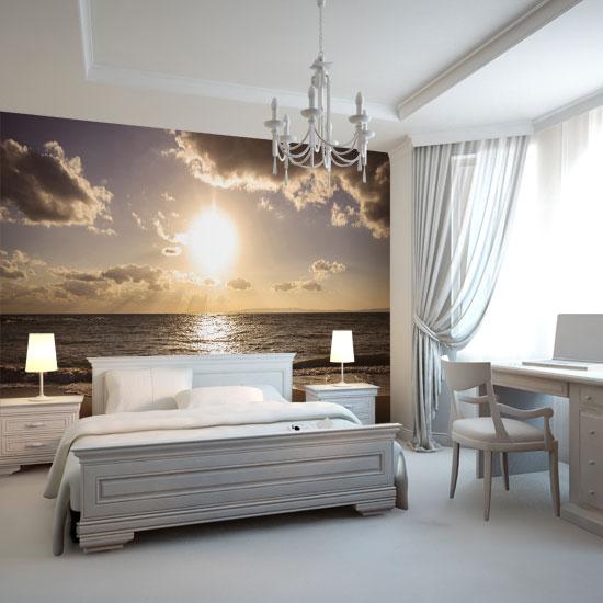 Foto Tapeta Zachód Słońca I Plaża