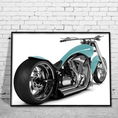 obrazy z motocyklami