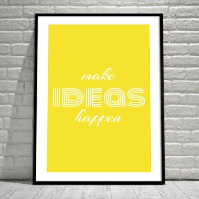 ozdoby z sentencjami o pomysłach