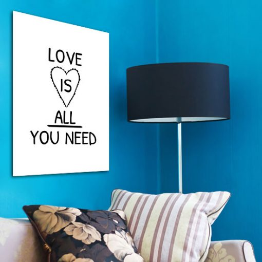 dekoracje z maksymami o miłości