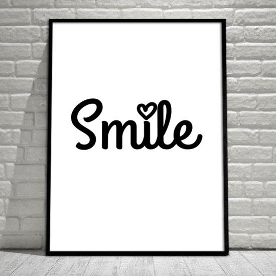 Plakat Uśmiechnij Się