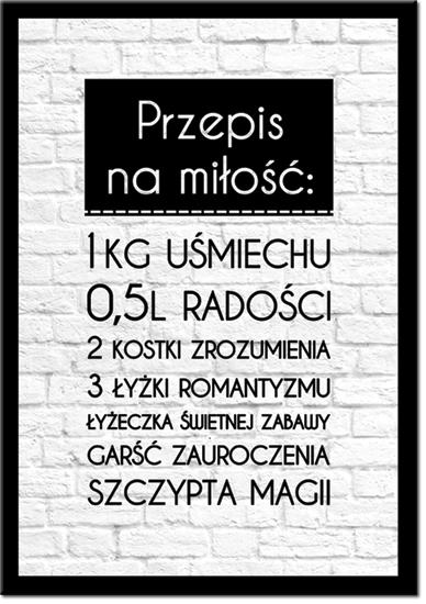 plakaty przepis na miłość