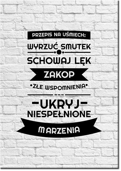 plakaty z przepisem na usmiech