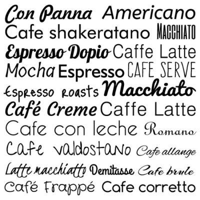naklejki z kawą