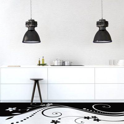 wzory na podłogę do kuchni