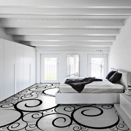 jak malować wzory na podłodze