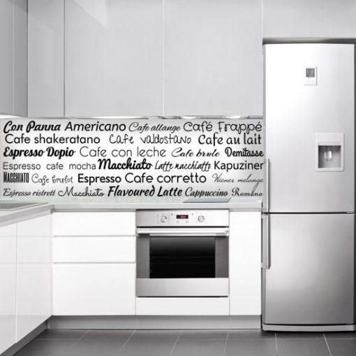 okleina do kuchni z literami