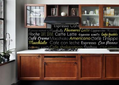 fotolaminat z nazwami kawy