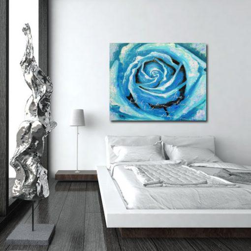 obraz turkusowy kwiat