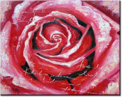obraz z różą do sypialni