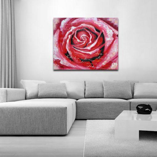 obraz róża i napisy