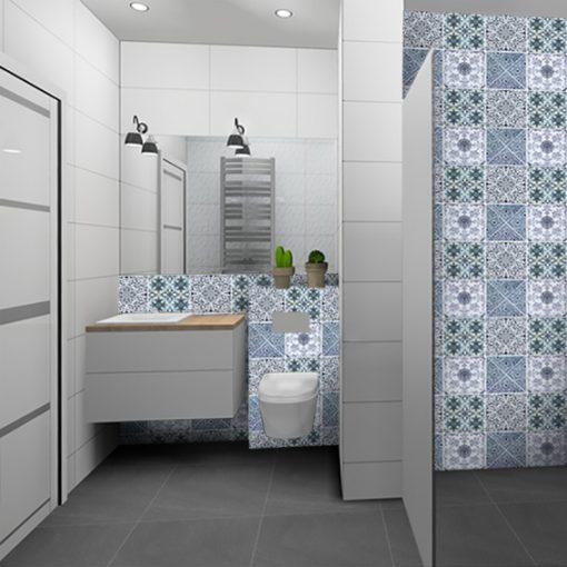 naklejki do łazienki, marokańskie