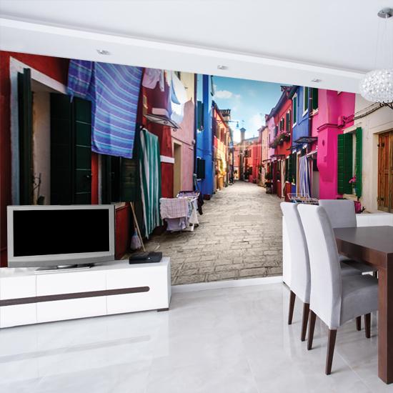 Jak optycznie powiększyć mieszkanie można to uczynić poprzez umieszczenie na ścianie fototapety efektem 3D