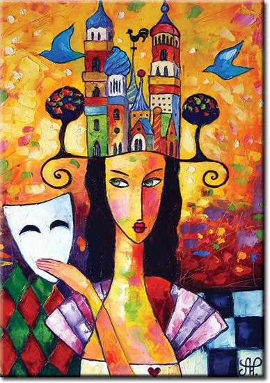 plakat miasto kolorów
