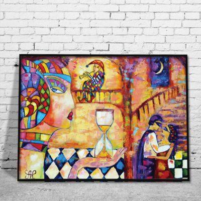 dekoracje do salonu - kochankowie