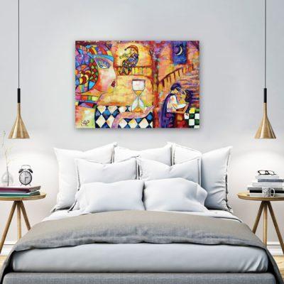 dekoracja do nowoczesnej sypialni