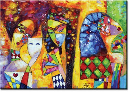 kolorowy plakat bal maskowy