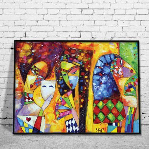dekorackja z malarstwem do salonu
