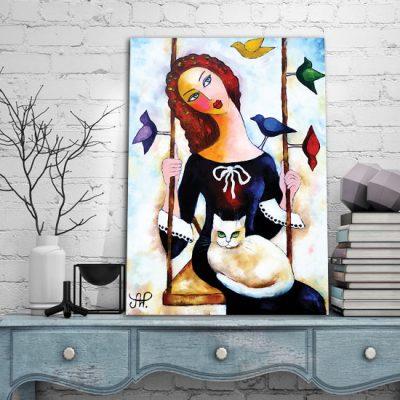 plakat z malarstwem Anny Wach