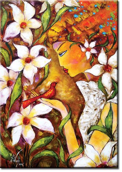 plakat z malarstwem - oreada