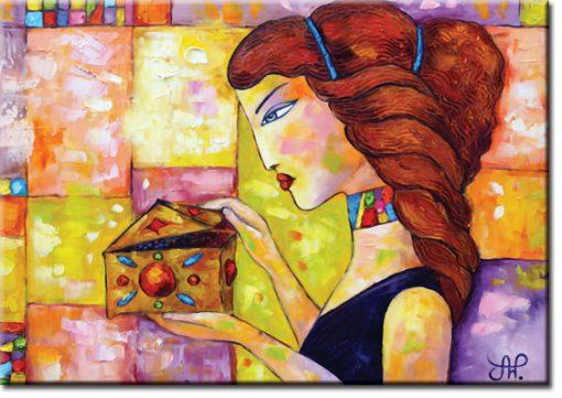 plakat do salonu - Pandora i szkatułka